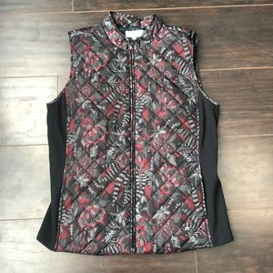Northern Reflections | Black and red floral vest